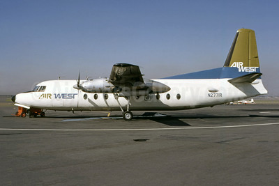 Air West (1st) Fairchild F-27A N2771R (msn 43) SNA (Ted J. Gibson - Bruce Drum Collection). Image: 946735.