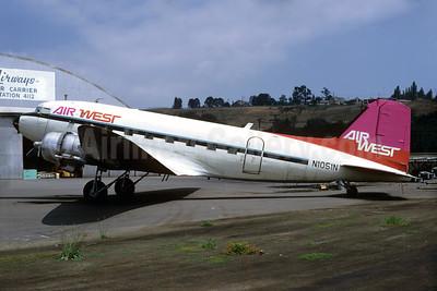 Air West tail, West Coast stripes