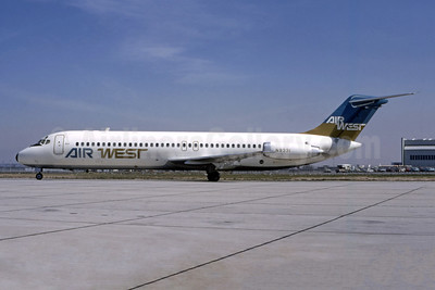 Air West (1st) McDonnell Douglas DC-9-31 N9331 (msn 47268) LAX (Ted J. Gibson - Bruce Drum Collection). Image: 946734.