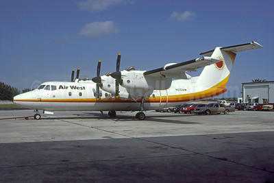 Air West Airlines (2nd) de Havilland Canada DHC-7-103 Dash 7 N210AW (msn 11) OPF (Nigel P. Chalcraft - Bruce Drum Collection). Image: 950344.