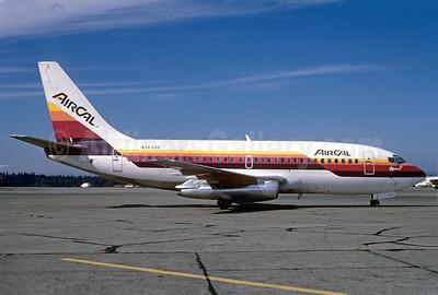 AirCal Boeing 737-293 N464AC (msn 19309) SEA (Bruce Drum). Image: 102066.