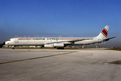 Airborne Express McDonnell Douglas DC-8-63 (F) N814AX (msn 46041) MIA (Bruce Drum). Image: 100375.