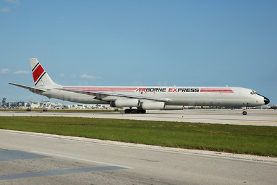 Airborne Express McDonnell Douglas DC-8-63 (F) N811AX (msn 46113) MIA (Bruce Drum). Image: 100375.