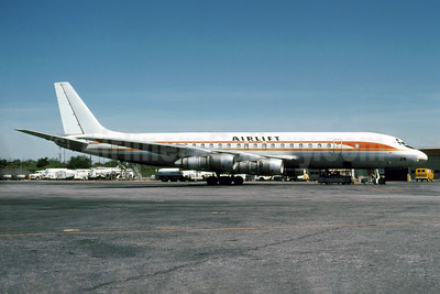 Airlift International McDonnell Douglas DC-8F-54 Jet Trader N109RD (msn 45674) (National Airlines colors) ATL (Fernandez Imaging Collection). Image: 928453.