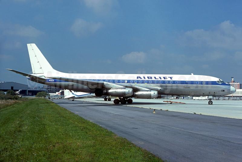Airlift International McDonnell Douglas DC-8-33 (F) N53CA (msn 45377) (KLM blue stripe) ATL (Christian Volpati Collection). Image: 933895.