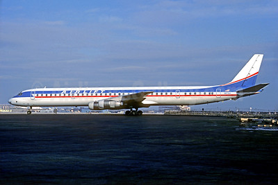 Airlift International McDonnell Douglas DC-8-61 N8764 (msn 46017) (Capitol colors) ORD (Christian Volpati Collection). Image: 933893.