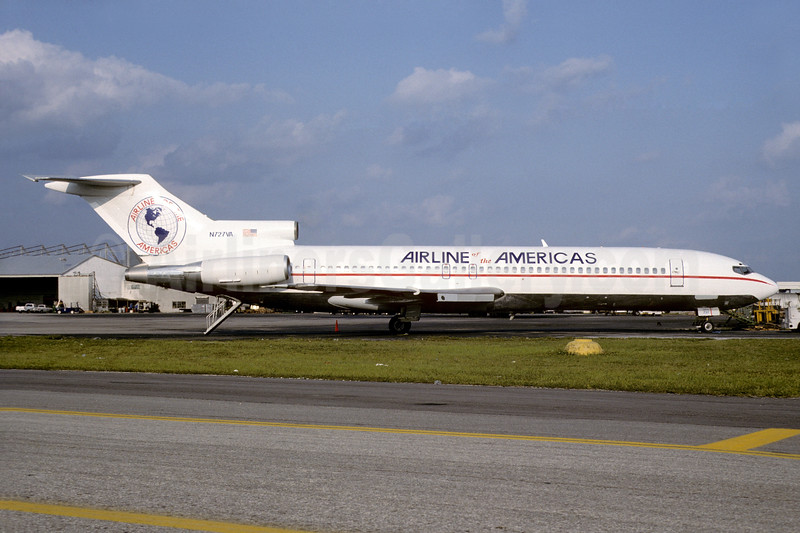 Airline of the Americas Boeing 727-221 N727VA (msn 22536) MIA (Bruce Drum). Image: 103610.