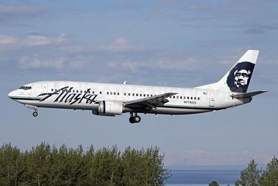 Alaska Airlines Boeing 737-4Q8 N779AS (msn 25111) ANC (Michael B. Ing). Image: 933057.