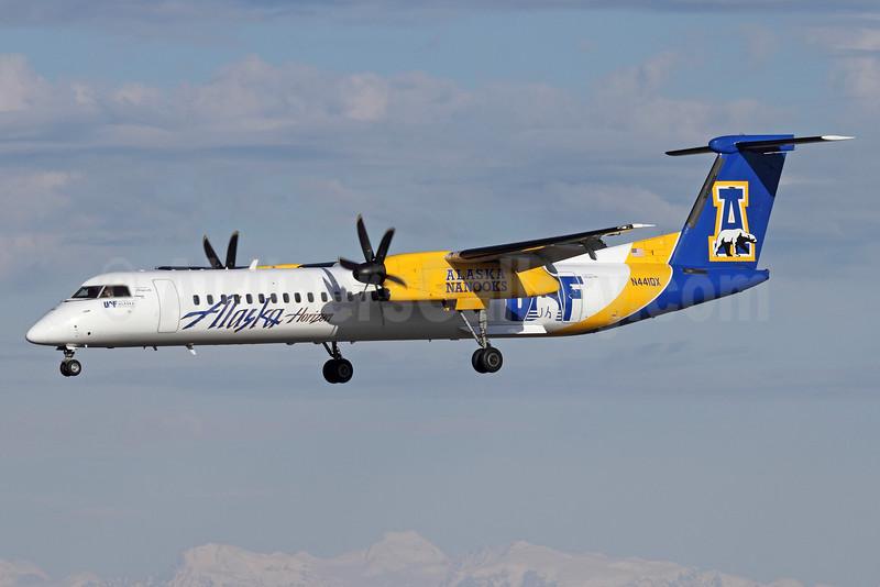 Alaska Horizon (Horizon Air) Bombardier DHC-8-402 (Q400) N441QX (msn 4348) (Alaska Nanooks) ANC (Michael B. Ing). Image: 933070.