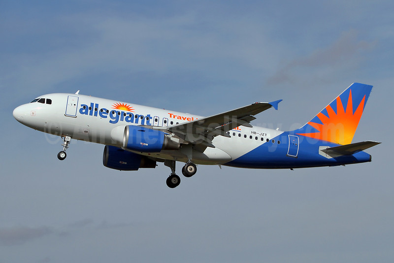 Allegiant Air Airbus A319-112 HB-JZT (N306NV)(msn 2420)  (Travel is our deal) SEN (Keith Burton). Image: 928753.