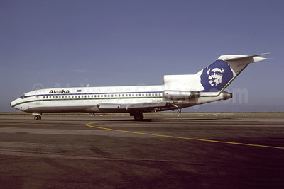 Alaska Airlines Boeing 727-21 N314AS (msn 18992) SFO (Gary Vincent - Bruce Drum Collection). Image: 948157.