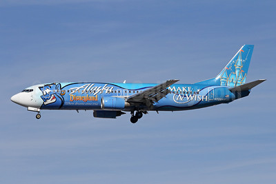 Alaska Airlines Boeing 737-490 N706AS (msn 28894) (Disneyland - Make-A-Wish) LAX (Michael B. Ing). Image: 908801.