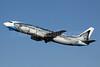 """Alaska Airlines Boeing 737-490 N792AS (msn 28887) """"Salmon-Thirty-Salmon"""" (Wild Alaska Seafood) ANC (Michael B. Ing). Image: 905223."""