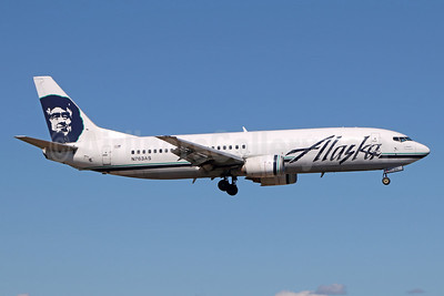 Alaska Airlines Boeing 737-4Q8 Combi N763AS (msn 25100) ANC (Michael B. Ing). Image: 938989.