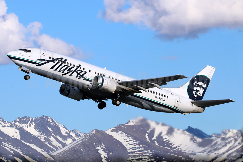 Alaska Airlines Boeing 737-490 N793AS (msn 28888) ANC (Michael B. Ing). Image: 928619.