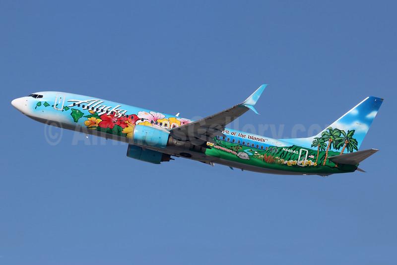 "Alaska Airlines Boeing 737-890 SSWL N560AS (msn 35179) ""Spirit of the Islands"" LAX (Michael B. Ing). Image: 926598."