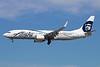 "Alaska Airlines' ""Employee powered"" logo jet"