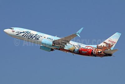 Alaska Airlines Boeing 737-890 SSWL N570AS (msn 35185) (Follow us to Disneyland Resort - Disney Cars) LAX (Michael B. Ing). Image: 935081.