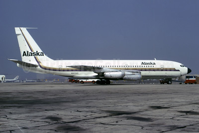 Alaska Airlines Boeing 720-048 N303AS (msn 18042) LAX (Bruce Drum Collection). Image: 946855.