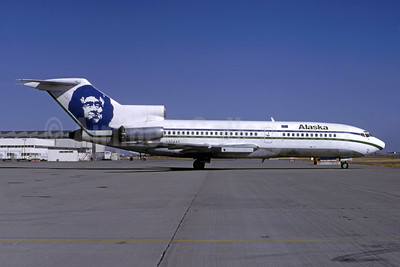 Alaska Airlines Boeing 727-21 N324AS (msn 19006) SFO (Nigel P. Chalcraft - Bruce Drum Collection). Image: 948159.