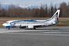 "Alaska Airlines Boeing 737-490 N792AS (msn 28887) ""Salmon-Thirty-Salmon"" (Wild Alaska Seafood) ANC (Brian McDonough). Image: 911022."