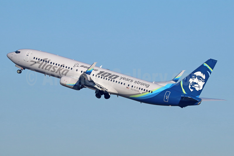 """Alaska's """"Boeing 100 years strong"""" special livery"""