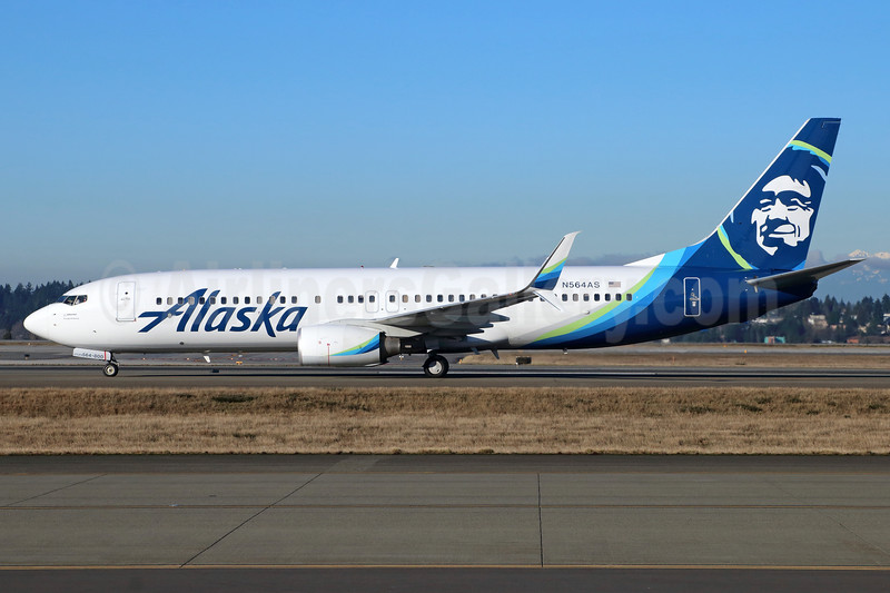 Alaska Airlines Boeing 737-890 SSWL N564AS (msn 35103) SEA (Michael McDonough). Image: 937285.