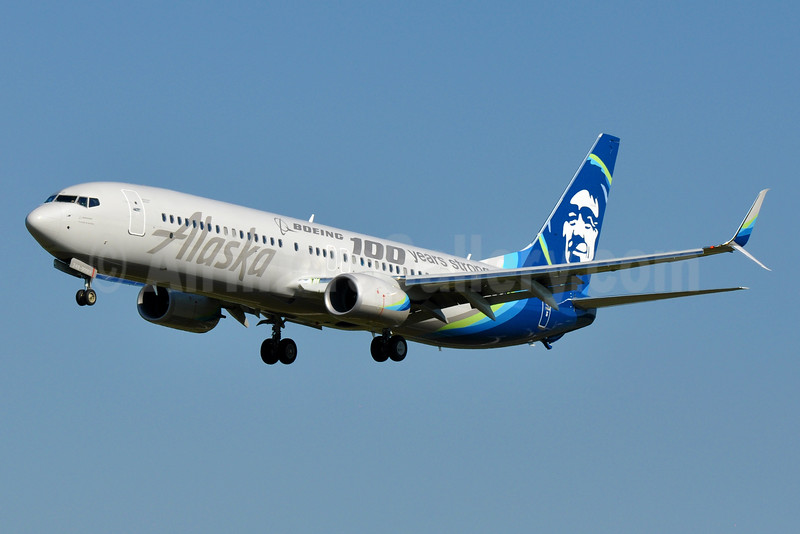 Alaska Airlines Boeing 737-990 ER WL N248AK (msn 62469) (Boeing 100 years strong) BWI (Tony Storck). Image: 935014.