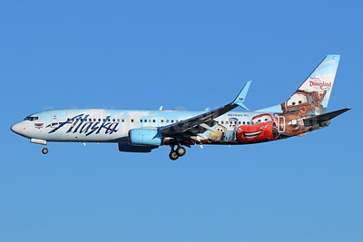 Alaska Airlines Boeing 737-890 SSWL N570AS (msn 35185) (Follow us to Disneyland Resort - Disney Cars) SEA (Michael B. Ing). Image: 938985.