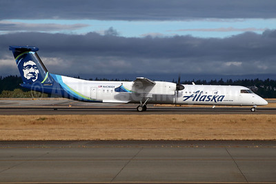 The first Q400 in the new livery