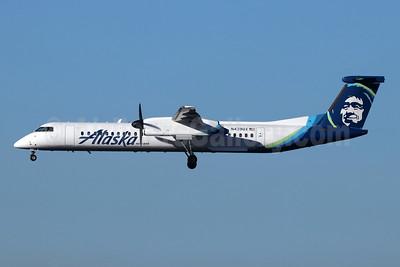 Alaska Horizon (Horizon Air) Bombardier DHC-8-402 (Q400) N439QX (msn 4246) LAX (Michael B. Ing). Image: 940879.