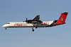 Alaska Horizon (Horizon Air) Bombardier DHC-8-402 (Q400) N414QX (msn 4061) (SDSU Aztecs - San Diego State University) LAX (James Helbock). Image: 908411.