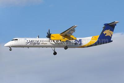 Alaska Horizon (Horizon Air) Bombardier DHC-8-402 (Q400) N403QX (msn 4037) (Montana State Bobcats) LAS (Bruce Drum). Image: 103820.