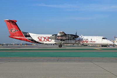 Alaska Horizon (Horizon Air) Bombardier DHC-8-402 (Q400) N414QX (msn 4061) (SDSU - San Diego State University Aztecs) LAX. Image: 923144.