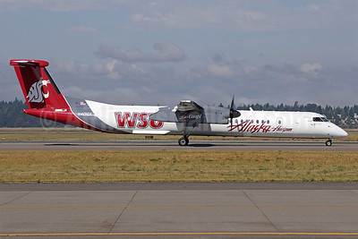 Alaska Horizon (Horizon Air) Bombardier DHC-8-402 (Q400) N401QX (msn 4031) (WSU Cougars - Washington State University) SEA (Michael B. Ing). Image: 908806.