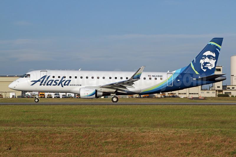 Alaska Horizon (Horizon Air) Embraer ERJ 170-200LR (ERJ 175) N648QX (msn 17000789) PAE (Nick Dean). Image: 947088.