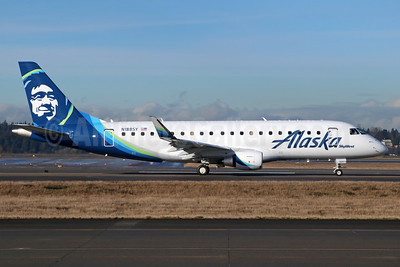 Alaska SkyWest (SkyWest Airlines) Embraer ERJ 170-200LR (ERJ 175) N188SY (msn 17000628) SEA (Michael B. Ing). Image: 937026.