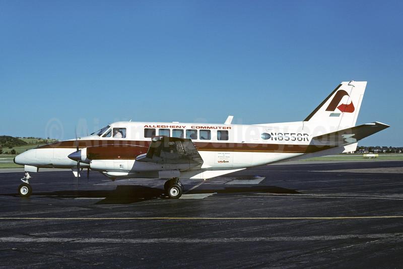 Allegheny Commuter - Air Kentucky Beech B99 Airliner N8558R (N38AK) (msn U-158) EVV (Bruce Drum). Image: 103191.