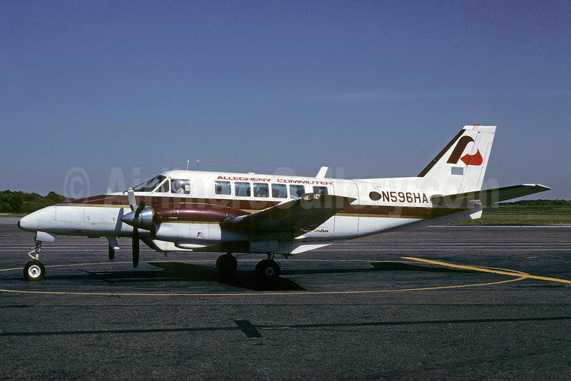 Allegheny Commuter - Henson Airlines Beech B99 Airliner N596HA (msn U-160) (Bruce Drum Collection). Image: 934783.