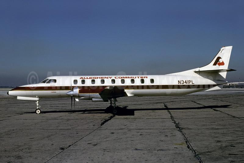Allegheny Commuter - Pocono Airlines Fairchild Swearingen SA226TC Metro II N341PL (msn TC-334) PHL (Bruce Drum). Image: 103620.