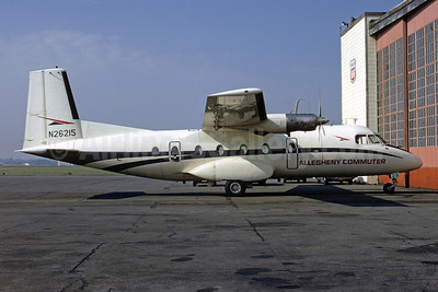 Allegheny Commuter-Ransome Airlines Nord 262A-12 N26215 (msn 23) TTN (Bruce Drum). Image: 103318.