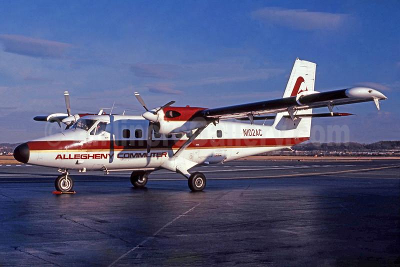 Allegheny Commuter - Southern Jersey Airways de Havilland Canada DHC-6-300 Twin Otter N102AC (msn 283) DCA (Jay Selman). Image: 400442.