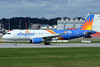 Allegiant's first direct new Airbus A320 in the 2017 revised livery and Sharklets