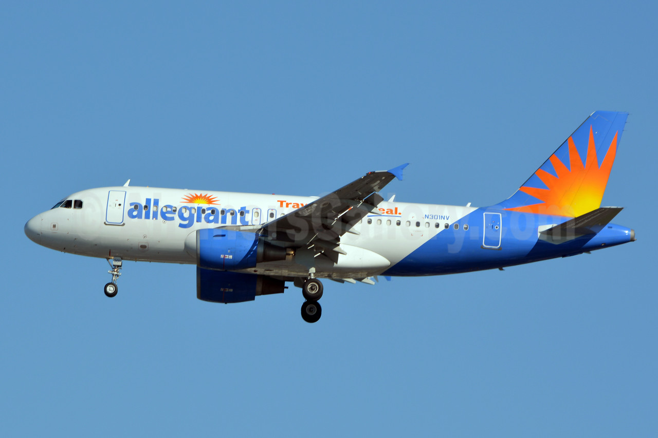 Allegiant Air Airbus A319-111 N301NV (msn 2319)  (Travel is our deal) LAX (Jay Selman). Image: 402673.