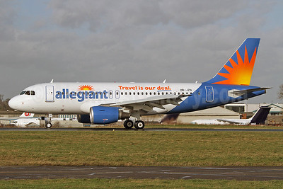 Allegiant Air Airbus A319-112 HB-JZN (N302NV) (msn 2387)  (Travel is our deal) SEN (Keith Burton). Image: 910880.