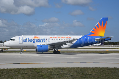 Allegiant Air Airbus A319-111 N327NV (msn 2556) (Travel is our deal) FLL (Bruce Drum). Image: 104602.