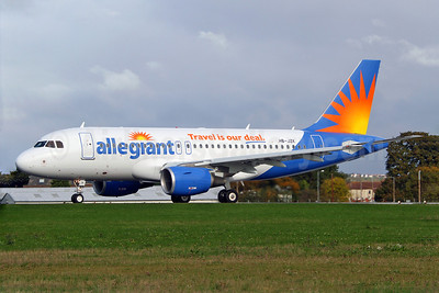 Allegiant Air Airbus A319-112 HB-JZK (N301NV)(msn 2319)  (Travel is our deal) SEN (Keith Burton). Image: 909599.