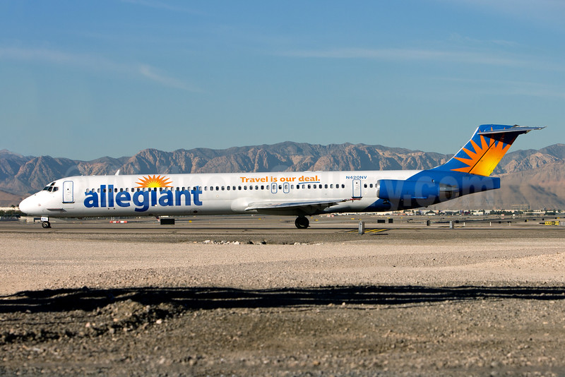 Allegiant Air McDonnell Douglas DC-9-83 (MD-83) N420NV (msn 49424) LAS (Gunter Mayer). Image: 49424.