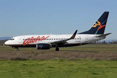 Aloha Airlines Boeing 737-76N WL N744AL (msn 32582) SMF (Mark Durbin). Image: 906104.