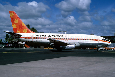Aloha Airlines Boeing 737-2C0 N570GB (msn 20070) HNL (Bruce Drum Collection). Image: 913590.